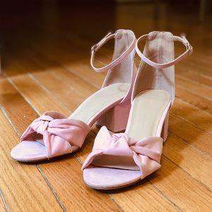 Wild Diva Pink Bowtie Heels
